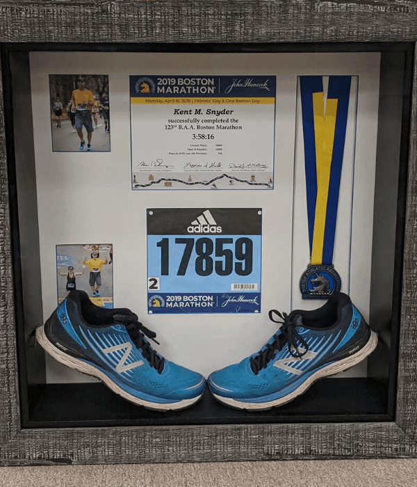Boston Marathon Shadow Box by Around the Corner Frames