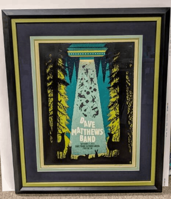 Dave Matthews Band Framed Poster by Around the Corner Frames